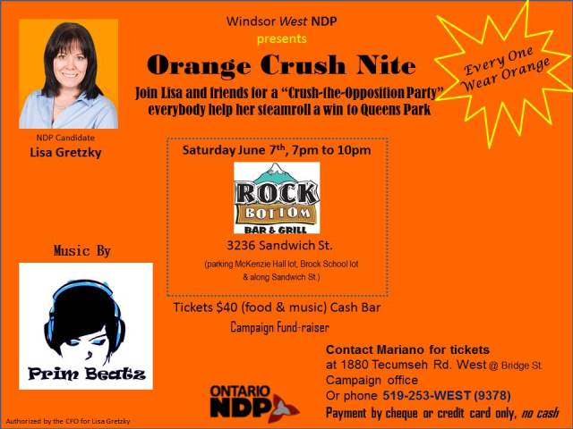 Flyer Orange Crush Nite, cyber version